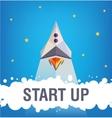 Start up graphic design vector image