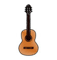 guitar acoustic musical instrument vector image