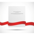 Paper banner with red ribbon vector image vector image