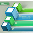 Infographic template with four cubes vector image