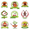 farm food agriculture icons labels collection set3 vector image vector image
