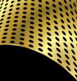 metallic curved background vector image