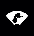 ultrasound baby symbol vector image