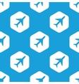Plane hexagon pattern vector image vector image