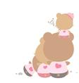 Love concept of teddy bear family vector image