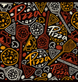 Pizzeria seamless pattern vector image