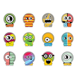 Set of twelve monster vector image vector image
