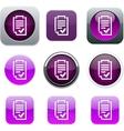 Form purple app icons vector image vector image