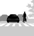 Cross road vector image vector image