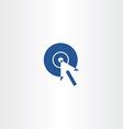 arrow circle target click pointer icon vector image