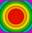 concentric circles lgbt rainbow flag gay colors vector image