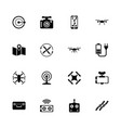drone - flat icons vector image