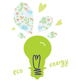 Eco light bulb concept vector image