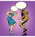 Man woman bubble dancers vector image