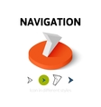Navigation icon in different style vector image