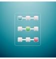 Progress controls UI vector image