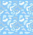 seamless winter pattern with frozen curls vector image