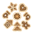set of the Christmas cookies vector image