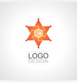 star bright technology logo vector image
