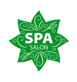 vegetative logo for Spa salon vector image