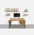 work desk vector image