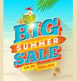 big summer sale design - summer vacation desiogn vector image