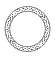 Celtic braid circular frame ornament on a white vector image
