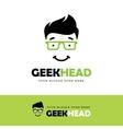 Geek Face Logo vector image vector image
