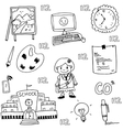 doodle of school collection stock vector image