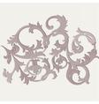 Acanthus leaf ornament pattern vector image