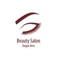 beautiful woman logo vector image
