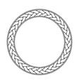 Celtic braid circular frame ornament on a white vector image