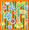 fun bright summer pattern with flippers vector image