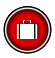 icons suitcase vector image