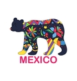 Isolated image of Mexican animal Black vector image