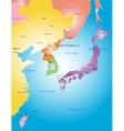 Korea peninsula vector image