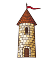 medieval tower vector image