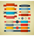 Retro Ribbons Labels Tags Set vector image