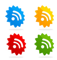 set of RSS icons vector image
