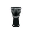 djembe on white background vector image