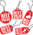 Best value red tag set vector image vector image