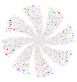 medical symbols fireworks swirl flower vector image