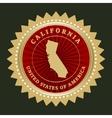 Star label California vector image