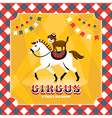 Vintage card with horse and dog vector