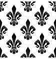 Black and white royal fleur-de-lis pattern vector image