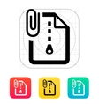 Attached Archive file icon vector image