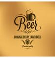 beer label background vector image