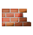 brick wall flat icon colorful silhouette with half vector image