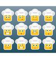 Cooking emoticon smile stickers vector image