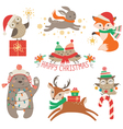 Cute Christmas animals vector image